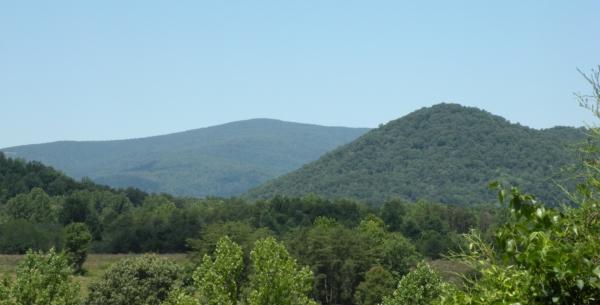 Blue ridge mountains from Charlottesville