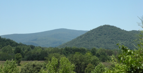 Blue ridge mountains from Charlottesville