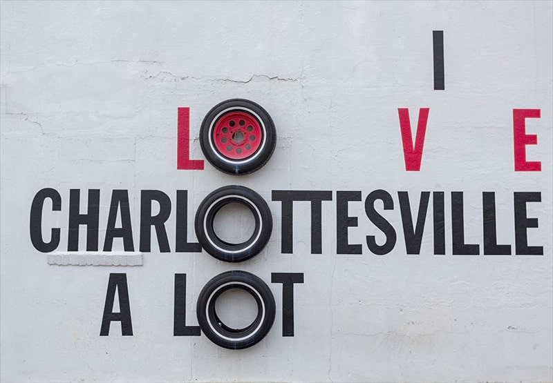 I love Charlottesville a Lot street art